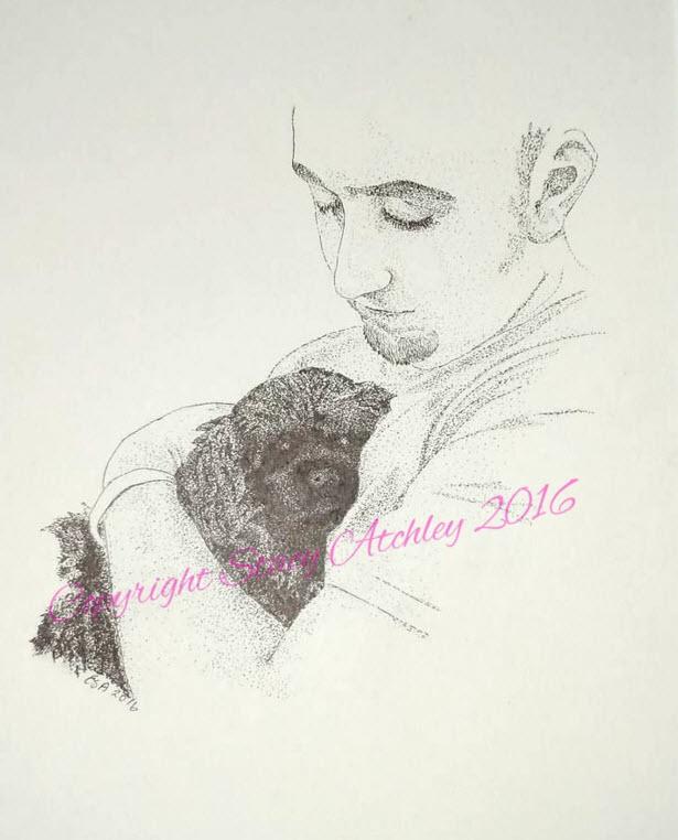 2016 single photo portrait - pen and ink
